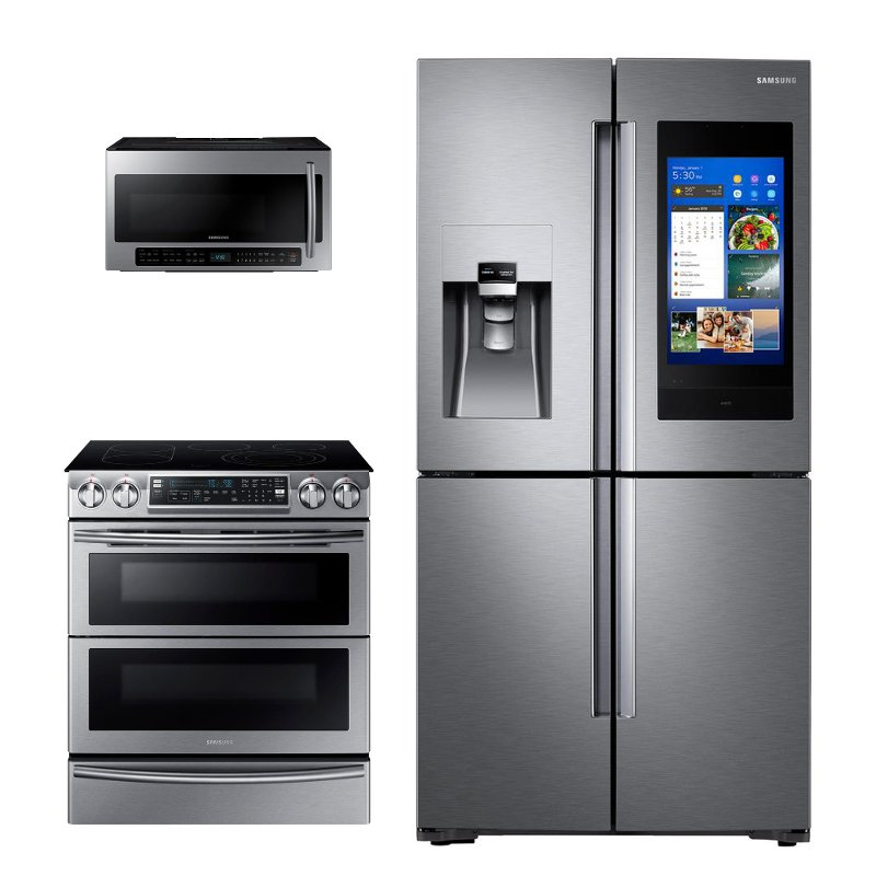 Samsung 3 Piece Kitchen Appliance Package With Electric