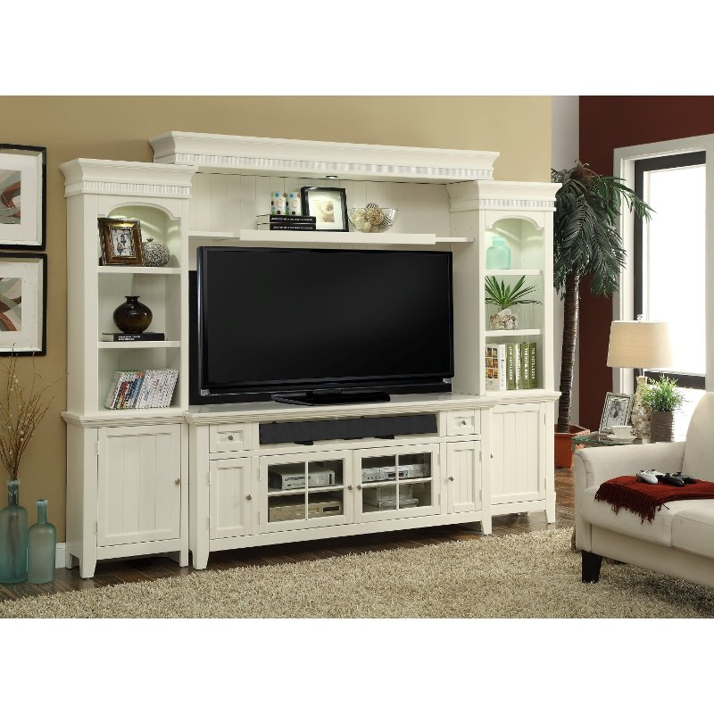 modern white 4 piece country entertainment center tidewater rc
