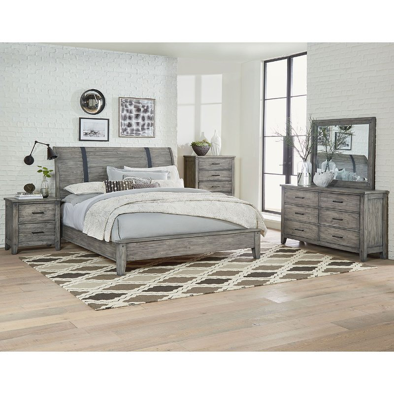Rustic Casual Gray 6 Piece Queen Bedroom Set - Nelson | RC Willey ...