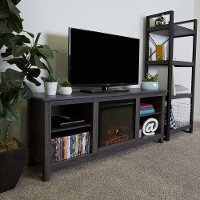 Black 58 Inch Fireplace TV Stand