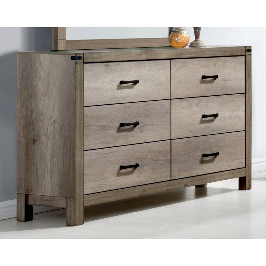 Rc Willey Dressers: Rustic Contemporary Antiqued White Dresser - Matteo