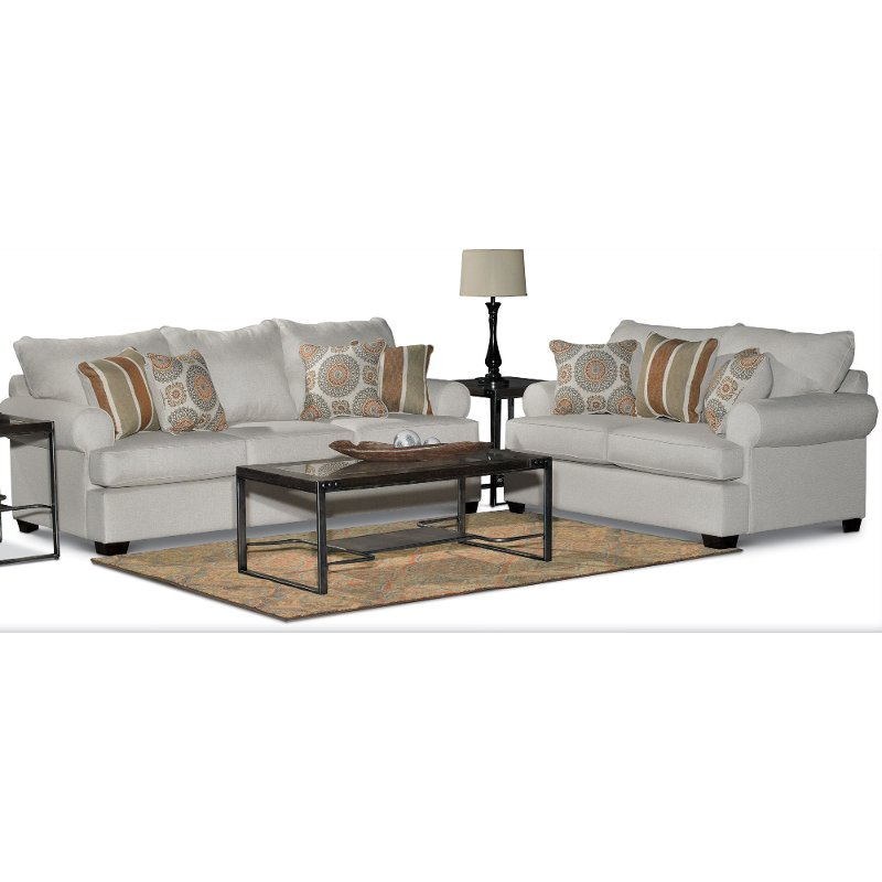 Casual Classic Linen 2 Piece Living Room Set   Alison