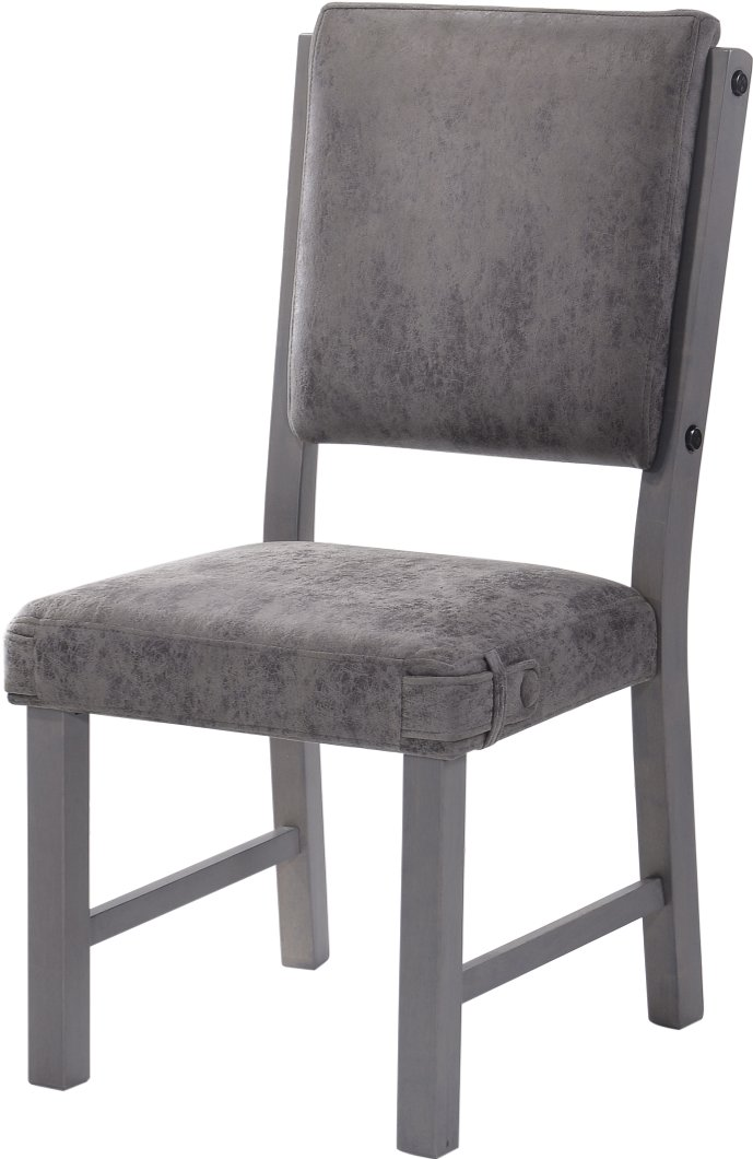 Gray upholstered