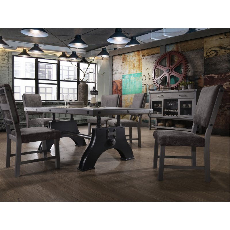 Gray And Black Industrial 5 Piece Dining Set   Factory Collection | RC  Willey Furniture Store