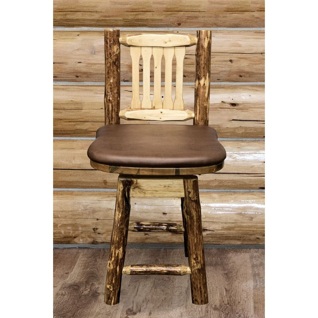Marvelous Counter Height Swivel Bar Stool W Back Glacier Onthecornerstone Fun Painted Chair Ideas Images Onthecornerstoneorg