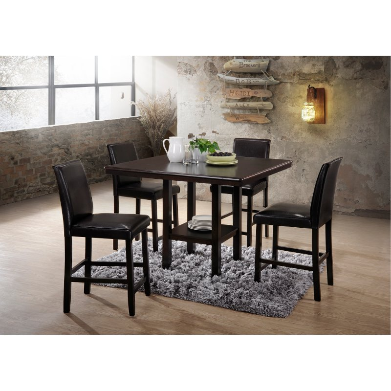 Espresso 5 Piece Counter Height Dining Set   City | RC Willey Furniture  Store
