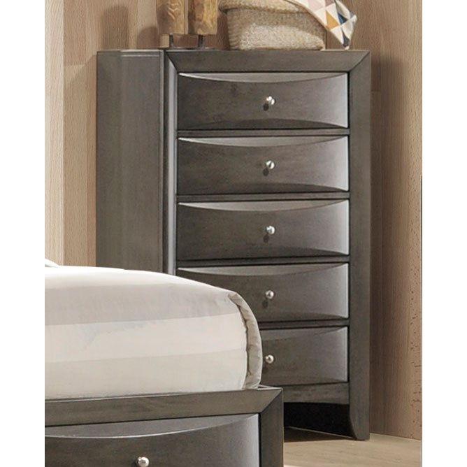 Contemporary Gray Chest Of Drawers Emily Rc Willey Furniture Store