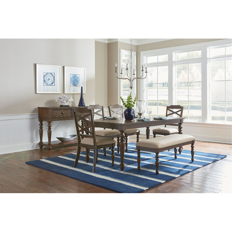 Cherry Traditional 6 Piece Dining Set   Larson Collection