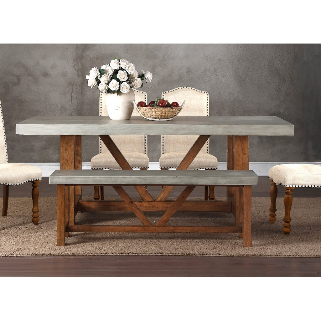 Faux Cement Dining Table Bohemian Rc Willey Furniture