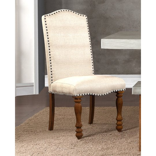 Ivory Upholstered Dining Chair   Bohemian
