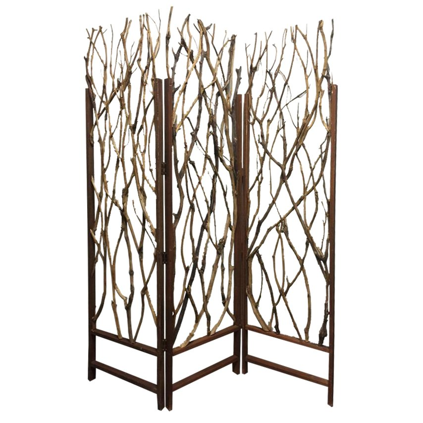 Tree Branch 3 Panel Screen Room Divider RC Willey Furniture Store