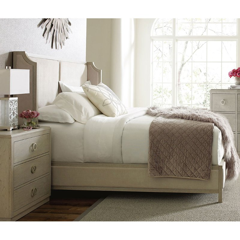 Rachael Ray Home Queen Upholstered Shelter Bed Cinema Rc Willey