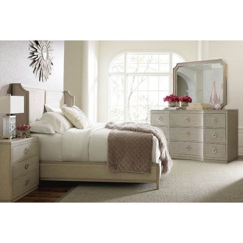 Rachael Ray Home Gray 4 Piece Queen Bedroom Set   Cinema | RC Willey  Furniture Store