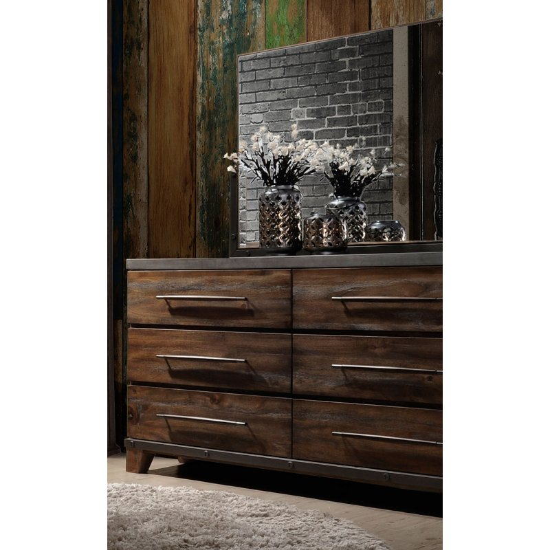 Rc Willey Dressers: Modern Rustic Brown Dresser - Forge
