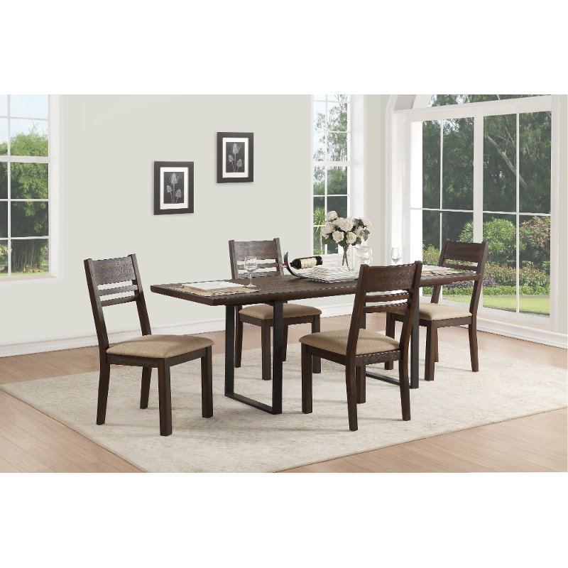 Superieur Tobacco Contemporary 5 Piece Dining Set   European | RC Willey Furniture  Store