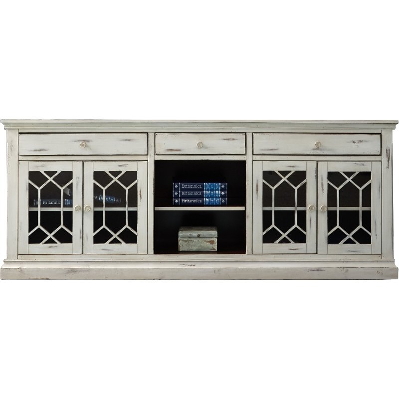 80 Inch Distressed White Tv Stand Prisma Rc Willey Furniture Store