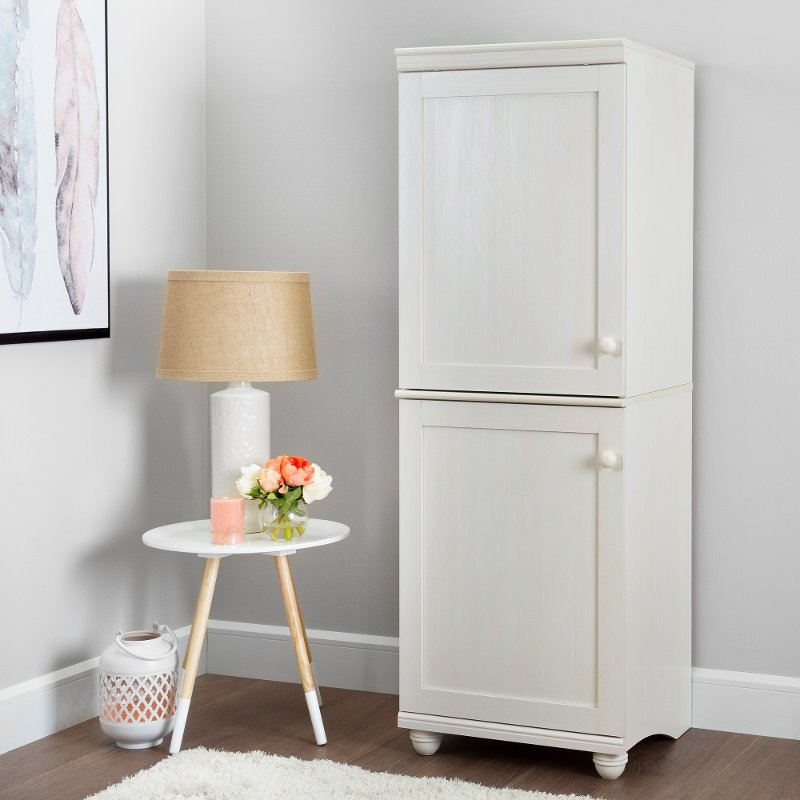& Two-Door Narrow Storage Cabinet - Hopedale | RC Willey Furniture Store