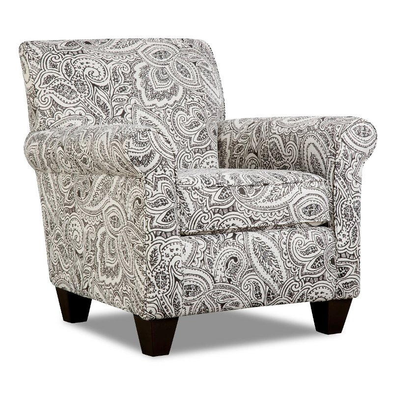 Charmant Classic Contemporary Pewter Paisley Accent Chair   Griffin
