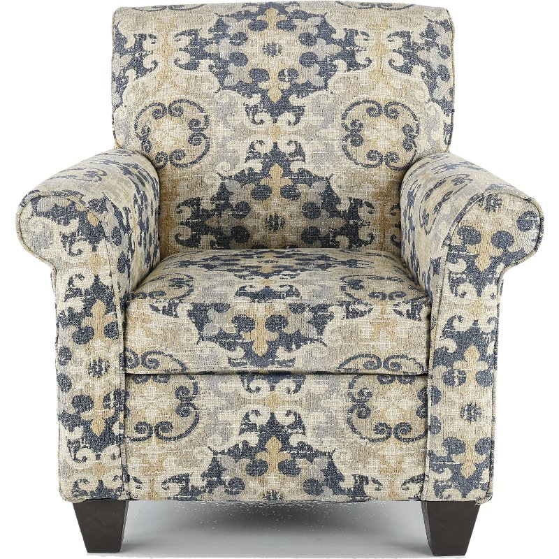 Casual Traditional Taupe U0026 Gray Accent Chair   Heather
