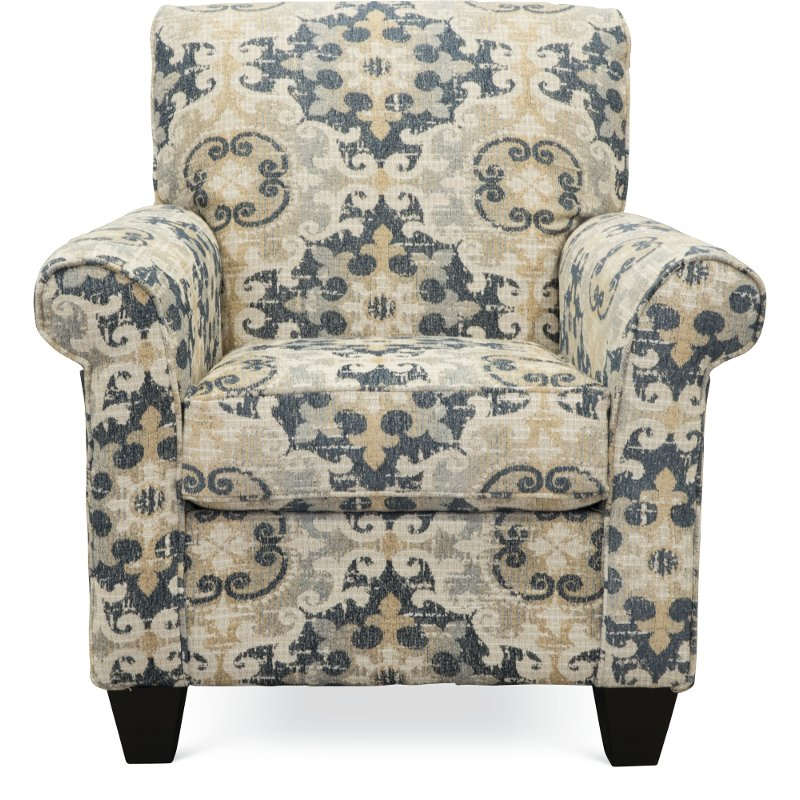 Casual Traditional Taupe U0026 Gray Accent Chair   Heather | RC Willey Furniture  Store