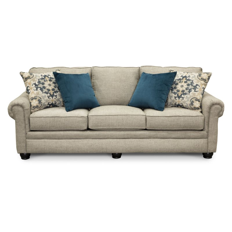 Beau Casual Traditional Taupe Sofa Bed   Heather