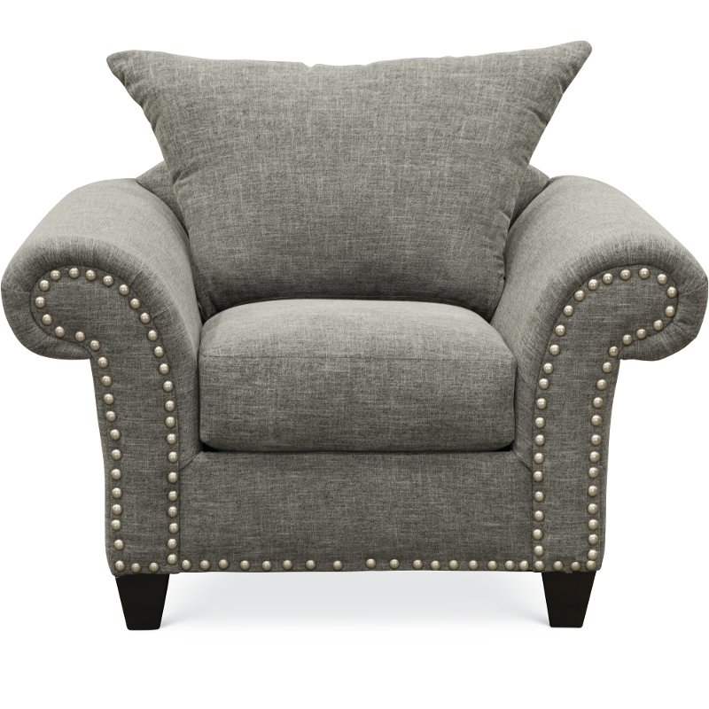 Casual Traditional Carbon Gray Chair   Paradigm