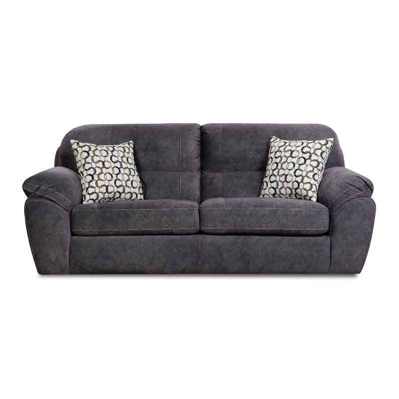Casual Contemporary Steel Blue Sofa Bed  Imprint