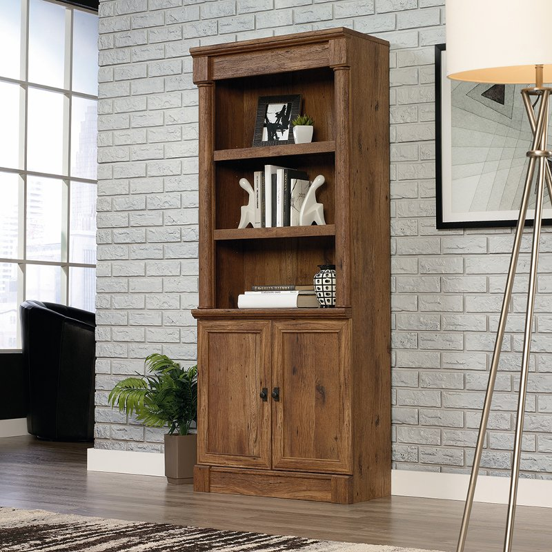 Vintage Oak Bookcase With Doors Vine Crest Rc Willey
