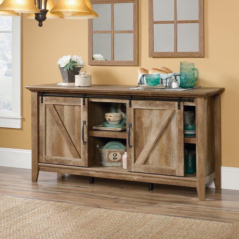 65 Inch Rustic Oak Tv Stand Dakota Pass Rc Willey Furniture Store