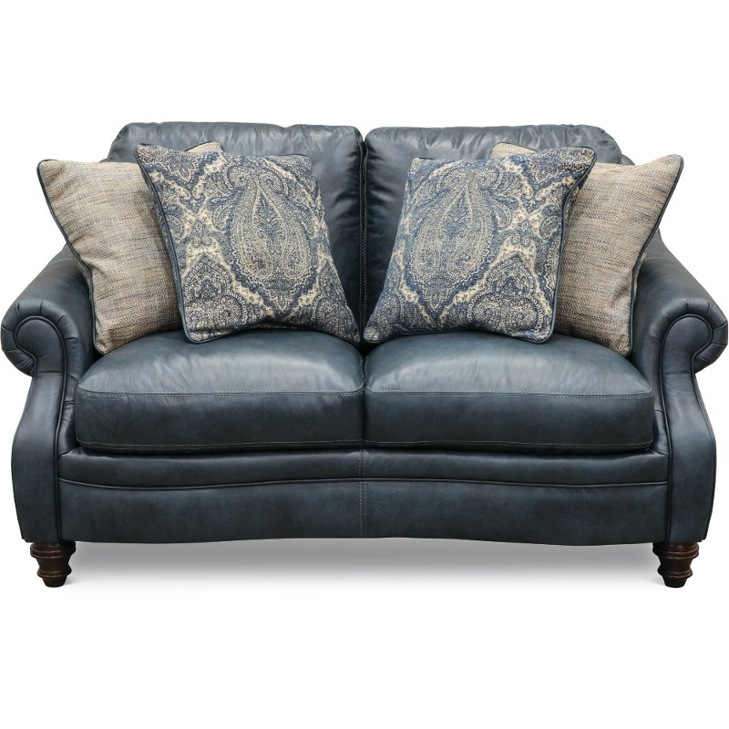 Navy Blue Leather Sofa And Loveseat Home Decorators