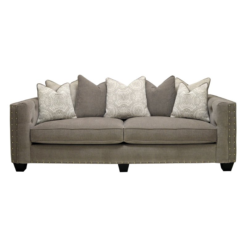 Willey Furniture: Traditional Gray Sofa - Caprice