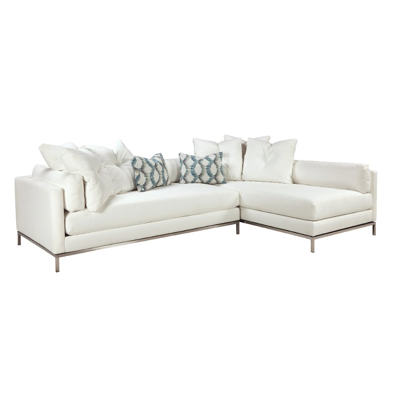 Delicieux Modern Pearl White 2 Piece Sectional Sofa   Cordoba