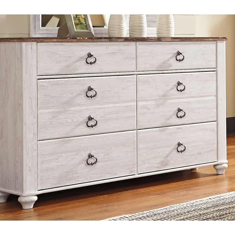 Classic Rustic Whitewash Dresser Millhaven Rc Willey