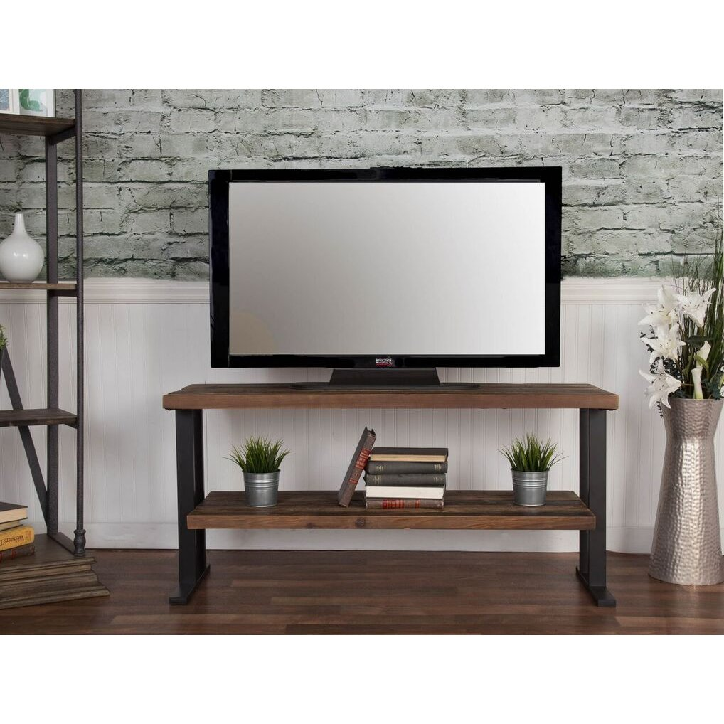 rustic brown industrial 50 inch tv stand brixton rc willey furniture store. Black Bedroom Furniture Sets. Home Design Ideas