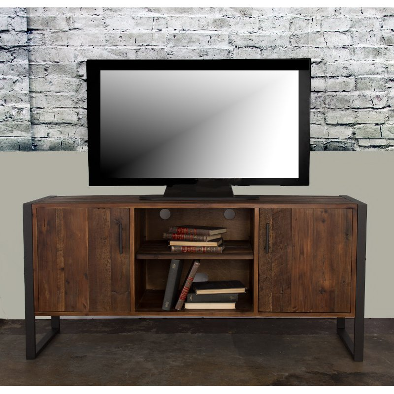 Modern Industrial Wood Tv Stand 60 Inch Brixton Rc Willey