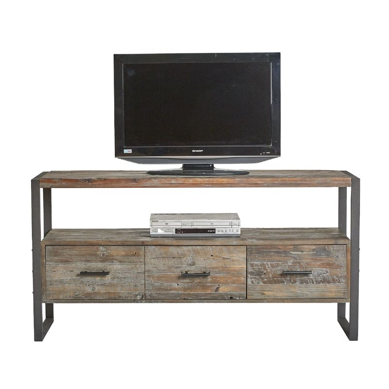 Antique Gray Rustic 60 Inch Tv Stand Brixton Rc Willey Furniture