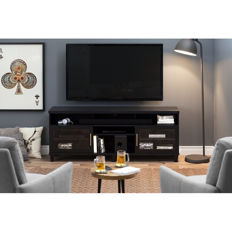 Rc Willey Tv Deals: Black Oak TV Stand Up To 70 Inch - Adrian