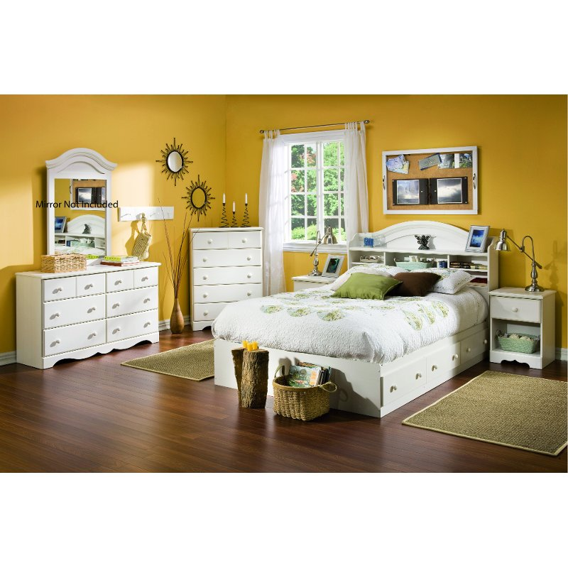 Exceptionnel White Wash 4 Piece Bedroom Set (Full Size)   Summer Breeze   RC Willey  Furniture Store