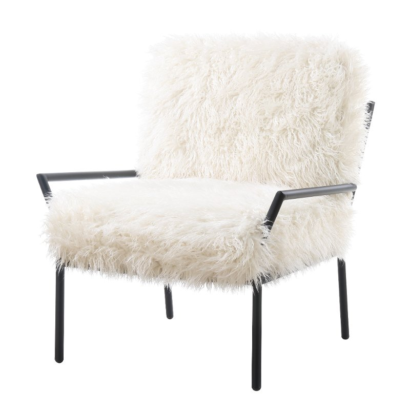 White Faux Fur Accent Chair - Royal  sc 1 st  RC Willey : faux chair - Cheerinfomania.Com