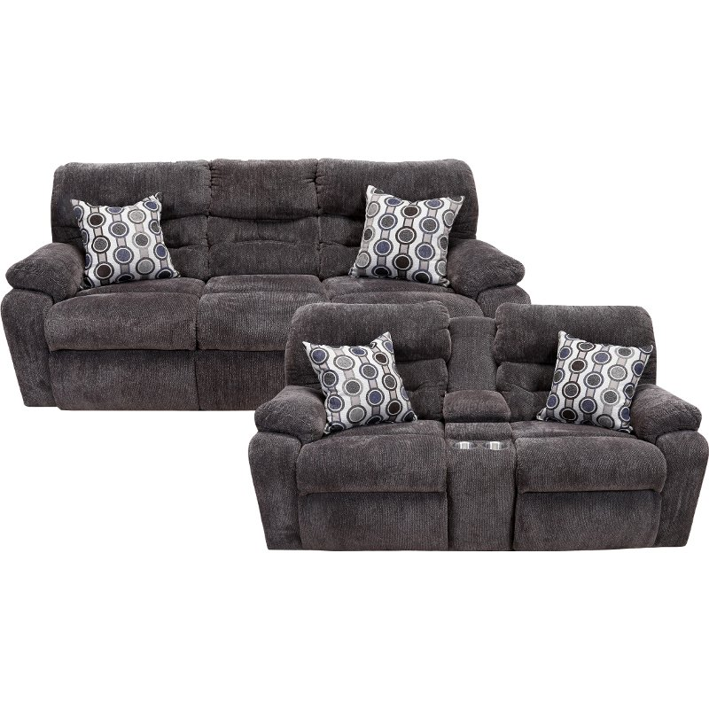 c2088159e3a9 Chocolate Brown Power Reclining Living Room Set - Tribute