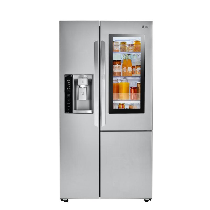 LG Side By Side Refrigerator With InstaView Door In Door   36 Inch  Stainless Steel | RC Willey Furniture Store