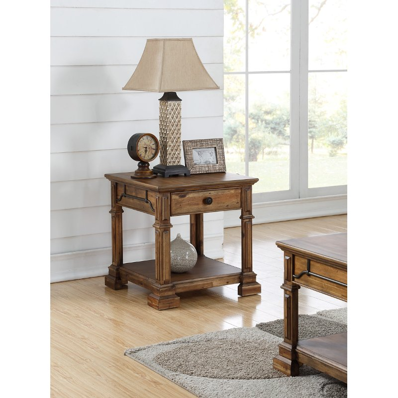 Rc Wiley Reno: Rustic Brown End Table - Barclay