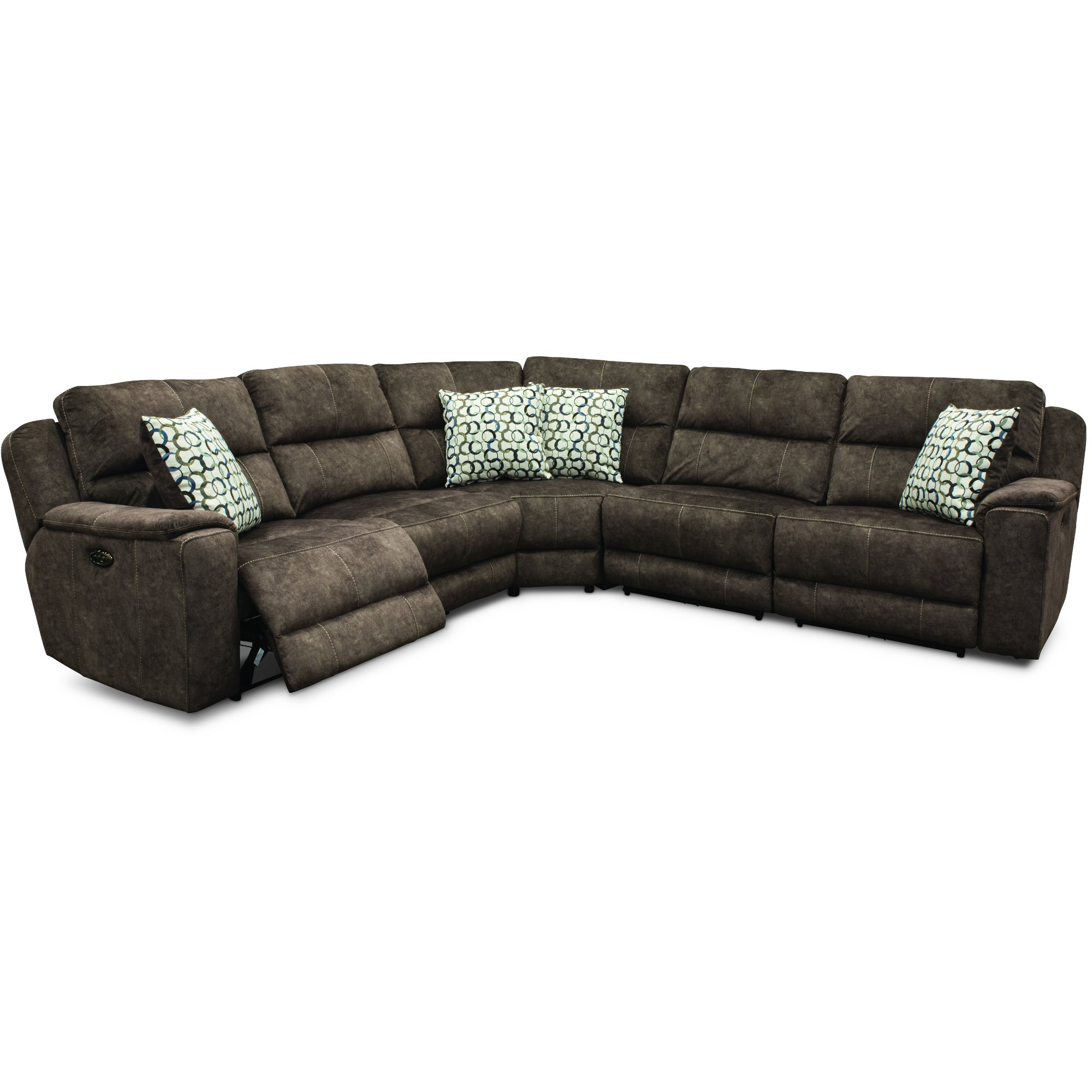 Coco Brown 5 Piece Reclining Sectional Sofa Imprint Rc Willey Furniture