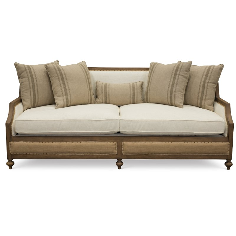 Magnolia Home Furniture Linen & Burlap Sofa