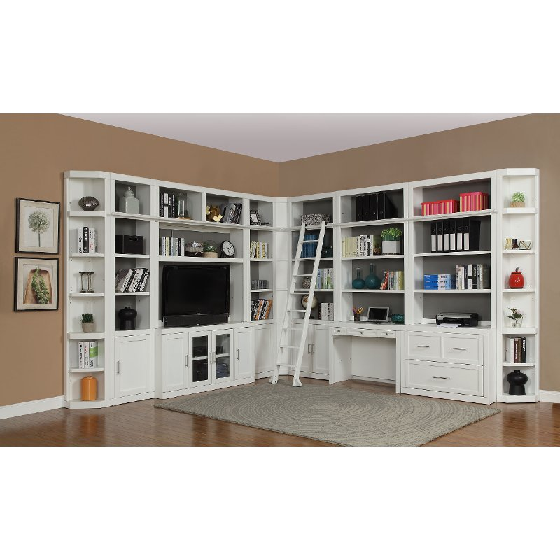 13 Piece White Home Office And Library Wall Catalina