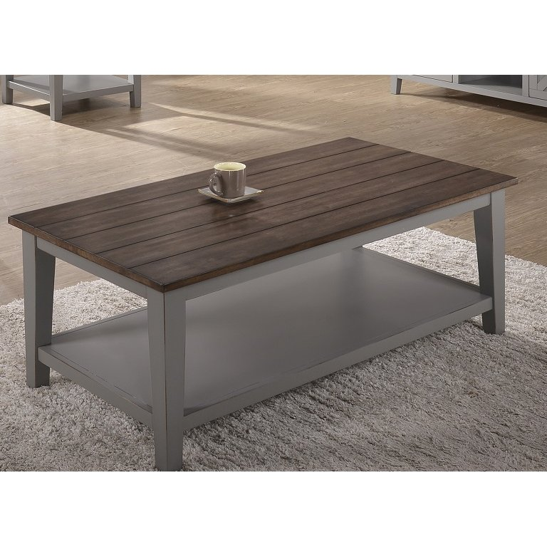Shop Craps Coffee Table: Farmhouse Gray And Brown Coffee Table