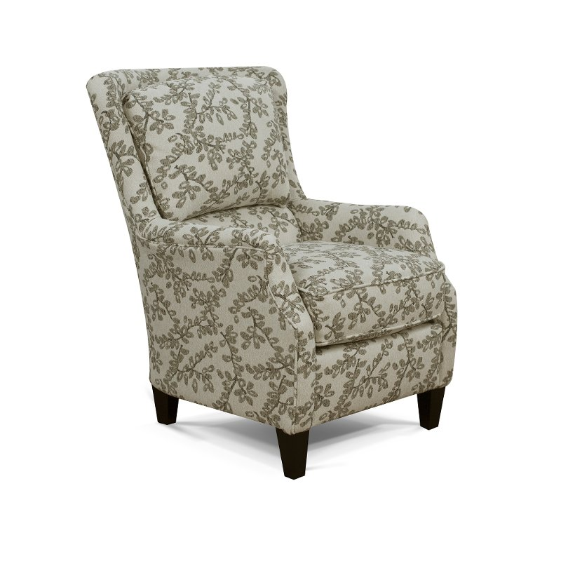 Neutral French Inspired Wing Accent Chair   Loren