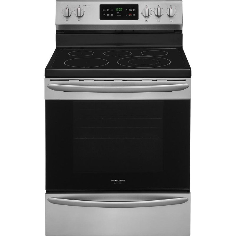 white electric range. FGEF3036TF Frigidaire Gallery Electric Range - 5.4 Cu. Ft. Stainless Steel White