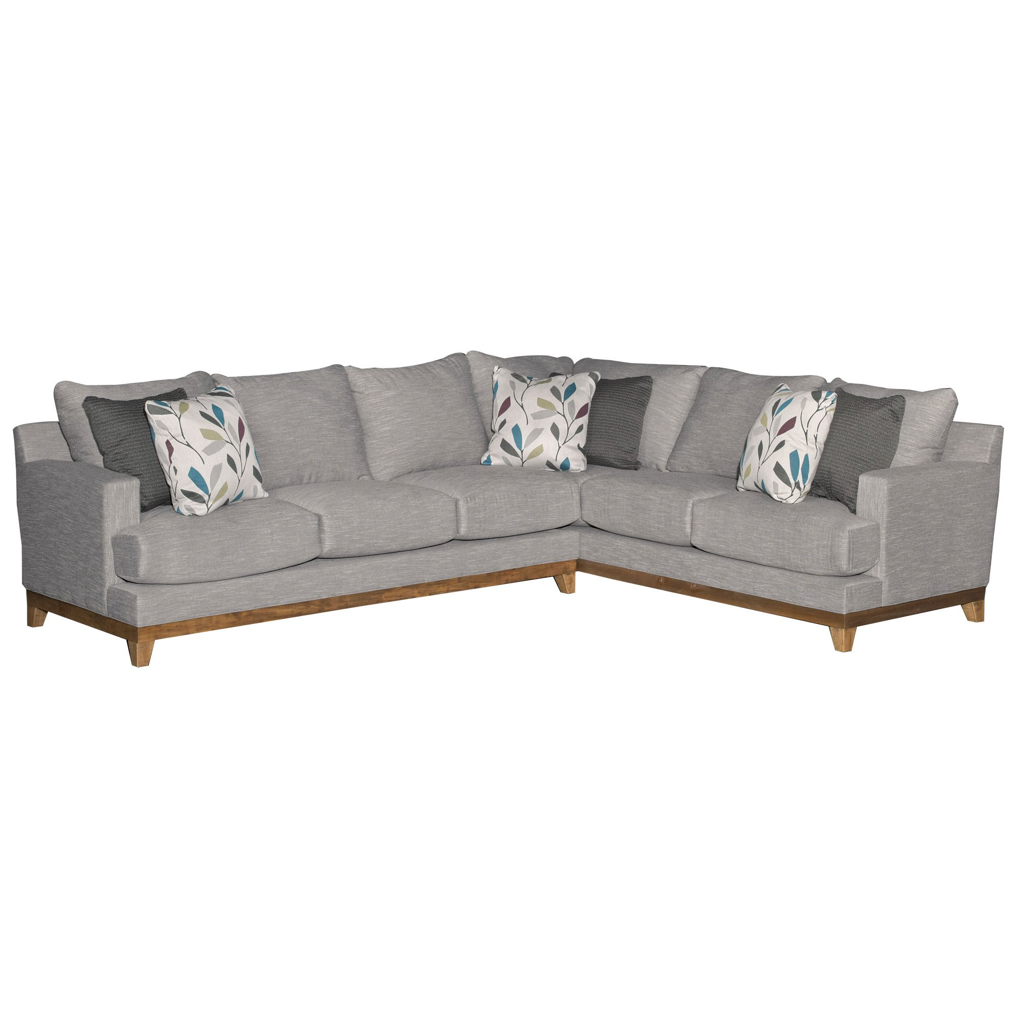 Contemporary Gray 2 Piece Sectional Sofa With Laf Dayton