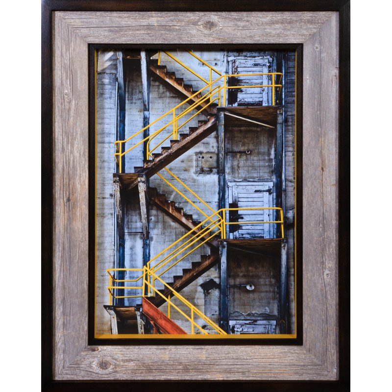 Rc Willey Salt Lake: Yellow Stair Railings Framed Wall Art